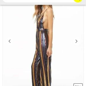 Forever 21 Other - Plunging Sequin Jumpsuit